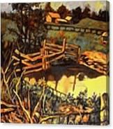 Farm Pond Reflections Canvas Print