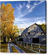 Farm Road Canvas Print