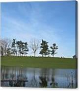 Farm Sky And Pond Canvas Print