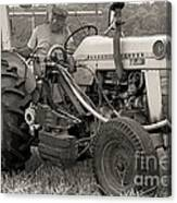 Farmer And His Tractor Canvas Print