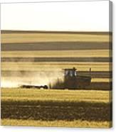 Farmer Working Canvas Print