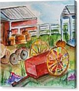 Farmers Backyard Canvas Print