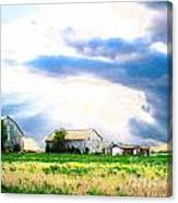 Farmer's Field At Sundown Canvas Print
