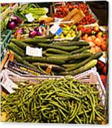 Farmers Market Florence Italy Canvas Print