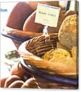 Farmer's Market Fresh Bread Canvas Print