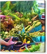 Farmer's Market Produce Stall Canvas Print