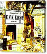 Farmers Market Vendor Canvas Print