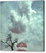 Farmhouse And Tree Canvas Print