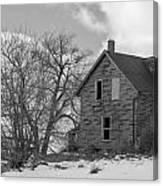 Farmhouse Black And White Canvas Print