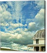 Farmhouse By Cornfield Canvas Print