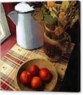Farmhouse Fruit And Flowers Canvas Print