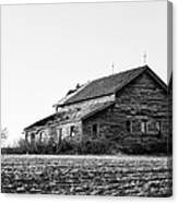 farmhouse in spring - Old Barns Canvas Print