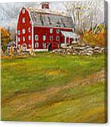Red Barn Art- Farmhouse Inn At Robinson Farm Canvas Print