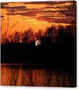 Farmhouse Sunset Canvas Print