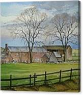 Farming In The Staffordshire Countryside Canvas Print
