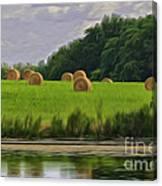 Farming Reflection Canvas Print