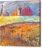 Farmland Sunset Canvas Print