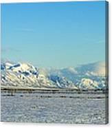 Farmland Winter View Canvas Print