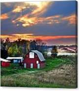 Farmstead At Sunset Canvas Print