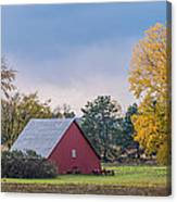 Farmstead With Fall Colors Canvas Print