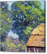 Farmyard With Poultry Canvas Print