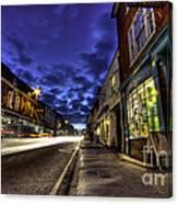 Farnham West St By Night Canvas Print