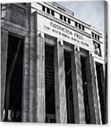 Farrington Field Facade Bw Canvas Print