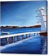 Farsund Badehuset On A Sunny Day Canvas Print