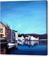 Farsund Dock Scene I Canvas Print