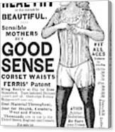 Fashion Corset, 1890 Canvas Print