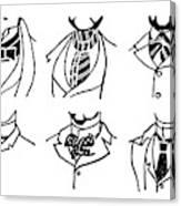 Fashion Cravats And Ties Canvas Print