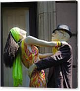 Fashion Dolls Dancing Canvas Print
