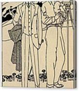 Fashion For Men Circa 1915 Canvas Print