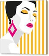 Fashion Girl. Bold, Minimal Style. Pop Canvas Print