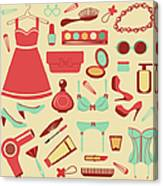 Fashion Items Set Canvas Print