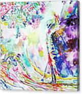 Fashion Lady And Death Under A Tree Canvas Print