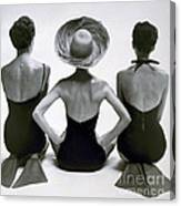 Fashion Models In Swim Suits, 1950 Canvas Print