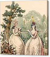 Fashion Plate Of Ladies In Summer Day Canvas Print