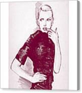 Fashion Sketch 96 Canvas Print