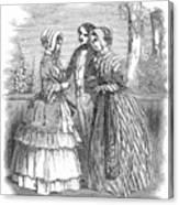 Fashion Women's, 1847 Canvas Print