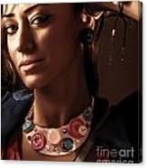 Fashionable Woman Portrait Canvas Print