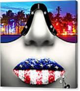 Fashionista Miami Silver Canvas Print