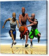 Fast Break On An Even Playing Field Canvas Print