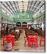 Fast Food Hall In Valladolid Canvas Print