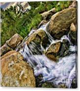 Fast Moveing Stream Canvas Print