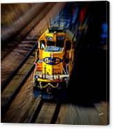 Fast Moving Train Canvas Print