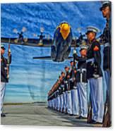 Fat Albert Over The Usmc Silent Drill Team Canvas Print
