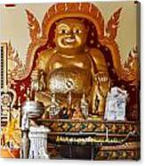 Fat Gold Budda Canvas Print