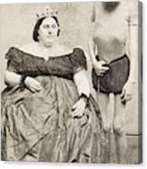 Fat Lady & Thin Man Canvas Print