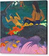 Fatata Te Miti.by The Sea Canvas Print